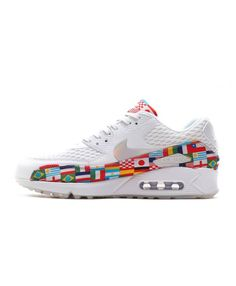 the best attitude 5fd57 ff5b9 Nike Air Max 90 EM White Multi-Color Trainers AO5119-100