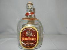 Vintage 1950's King's Ransom Scotch Whisky Bottle