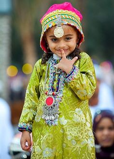 Cute little girl from Oman with giggles