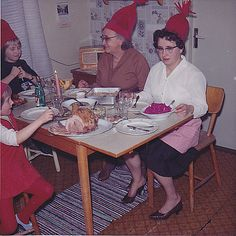 Maureen went to her mental happy place where sophistication and grace prevailed and there were no dumb relatives who insisted on wearing silly red hats.