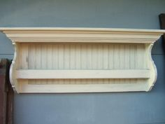 Bead Board Shelf Quilt Hanger
