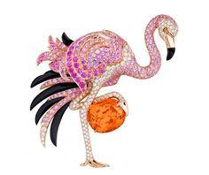 Van Cleef & Arpels flamingo brooch