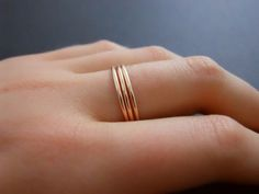 Thin Rose Gold Filled Ring Skinny Rose Gold Ring by annikabella