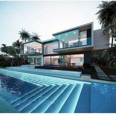 Ocean House on Behance - Architecture Modern Home Design, Dream Home Design, House Design, Modern Homes, Modern Decor, Modern Architecture House, Architecture Design, Architecture Interiors, Classical Architecture