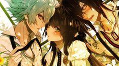 Takeru Sasazuka,Hoshino Ichika and Enomoto Mineo【Collar×Malice】 Cute Anime Boy, Anime Boys, Manga Art, Anime Art, Anime Group, Under The Moon, Couple Romance, Diabolik Lovers, Art Tutorials