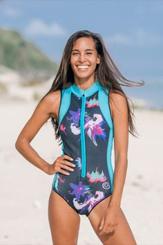 To get your ready for a summer spent in the ocean, Vitamin Sea Collective have partnered up with stylish waterwear brand @glidesoul for a giveaway ... a Bloom Spring Suit for you and a friend! Click to enter now Christian Girls, Surf Girls, Modest Dresses, Swimsuits, Swimwear, One Piece Swimsuit, Color Blocking, Wetsuit, Surfing