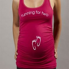 Running For Two Racerback Tank - So cute!
