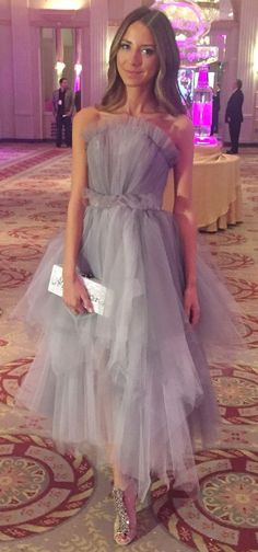 Grey Tulle Dress Bridal Style by Something Navy