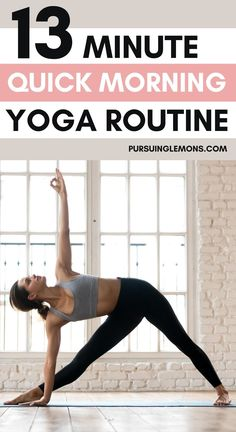 Morning Yoga: A Quick 13-Minute Wake-Up Routine | Feeling sluggish and struggling to stay awake in the morning? Starting your day with this morning yoga sequence will help to activate your muscles and keep you energized for the day! #morningyoga Morning Yoga Sequences, Morning Yoga Routine, Yoga Poses For Beginners, Workout For Beginners, Yoga For Weight Loss, Weight Loss Meals, Yoga Lifestyle, Healthy Lifestyle, Workouts For Teens