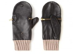 KURT GEIGER, ISLA MITTENS: @JoRoan Lazaro - black leather... mittens?