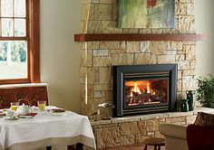 Ahhhh. A warm, cozy room. The fireplace makes all the difference!
