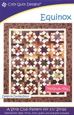 Equinox Quilt Pattern Cozy Quilt Designs - Fat Quarter Shop