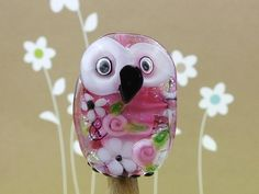 Lou............. lampwork owl bead...sra by DeniseAnnette on Etsy, $20.00