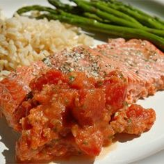 Salmon with Tomatoes Allrecipes.com