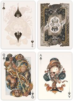 Under the Skin Halloween Poker Playing Card by Acelion Cardistry LIMITED EDITION