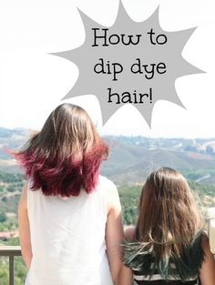 How to tutorial for dip dying hair at home. Save money and time with these easy steps. Dying Hair Tips, Dying Hair At Home, Blue Tips Hair, How To Dye Hair At Home, Hair Dye Tips, Dying Your Hair, At Home Hair Color, Dip Dye Hair Brunette, Dyed Hair