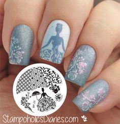 $2.99 Rose Queen Theme Nail Art Stamp Template Image Plate BORN PRETTY BP25 - BornPrettyStore.com