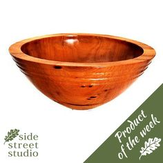 *Product of the week: Black Locust Bowl* A very fine bowl made from local Black Locust wood (also called Robinia) which has a wonderful grain and rich colour. Hand turned in Victoria, B.C. by Philip Cottell. http://www.sidestreetstudio.com/collections/wood/products/black-locust-wood-bowl