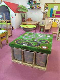 113 toy storage ideas 2019 diy plans in a small space-page 40 Preschool Rooms, Preschool Classroom, Classroom Decor, Daycare Design, Playroom Design, Playroom Ideas, Toy Storage Solutions, Storage Ideas, Home Daycare