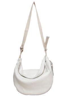 by Maison Martin Margiela / Sling Bag White Leather, Leather Bag, Sac Week End, Shoulder Sling, Leather Shoulder Bag, Purses, My Style, Accessories, Fashion Inspiration