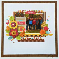 Doodlebug Design Inc Blog: Happy Harvest Give Thanks Layout by Stephanie Buice.