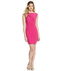 Adrianna Papell Asymmetrical Draped Banded Sheath Dress #Dillards