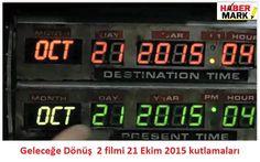 Tüm dünya ve ülkemizde de büyük bir hayran kitlesi bulunan Back to the future 3'lemesinin 2. filminde, ana karakter Marty McFly'ın 21 Ekim 2015 günü geleceğe yolculuk ettiği gün olarak tüm dünya üzerinde sosyal m..
