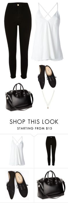 """Untitled #2446"" by twerkinonmaz ❤ liked on Polyvore featuring Dondup, River Island, Wet Seal, Givenchy and LC Lauren Conrad"