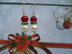 Rudolph - rode oorbellen van CindyrellaJewels op DaWanda.com