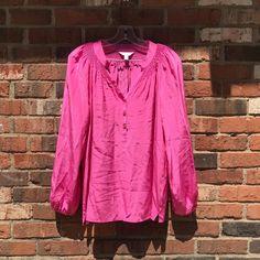 99da6ba61a5789 Lilly Pulitzer Elsa Pink Silk Shirt