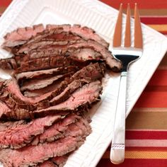 SUNDRIED TOMATO, ROSEMARY & BALSAMIC MARINATED FLANK STEAK
