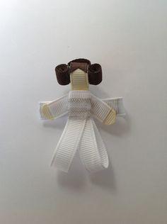 Star Wars - Princess Leia Ribbon Sculpture Hair Clip. $6.00, via Etsy.