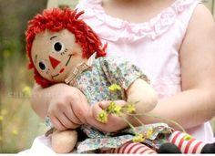 Muñecas de trapo ¡cuantos recuerdos! Aquí con la famosa Raggedy Ann, falta su compañero Andy...