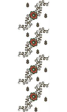 Dupatta Embroidery Design 13713