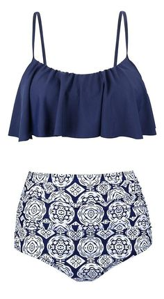 200488517fa Women Swimsuits Vintage High Waisted Bikinis Bathing Suits Retro Halter Top    eBay