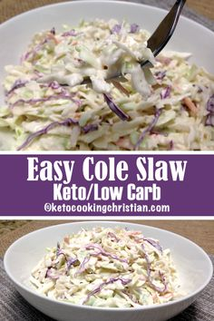 Easy Cole Slaw - Keto And Low Carb Summer Is Approaching And It's . Easy Cole Slaw - Keto and Low Carb Summer is approaching and it's keto coleslaw genius kitchen - Keto Coleslaw Low Carb Coleslaw, Creamy Coleslaw, Kfc Coleslaw, Vinegar Coleslaw, Apple Coleslaw, Creamy Cole Slaw Recipe, Coleslaw Salad, Keto Bagels, Low Carb Keto