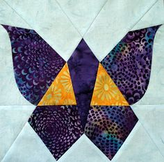 Joan's Vintage butterfly quilt block