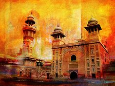 Wazir Khan Mosque Canvas Print by Catf. All canvas prints are professionally printed, assembled, and shipped within 3 - 4 business days and delivered ready-to-hang on your wall. Choose from multiple print sizes, border colors, and canvas materials. Building Painting, City Painting, Building Art, Banner Background Images, Photo Background Images, Photo Backgrounds, Canvas Art, Canvas Prints, Canvas Ideas