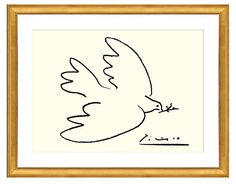 One Kings Lane - The Brooklyn Brownstone - Picasso, Dove of Peace (Serigraph)