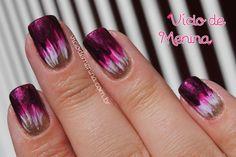 Ombré / Dip Dye Nails com pincel - Vício de Menina