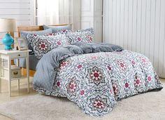 Duvet Cover Sheets Set, Dolce Mela Lanzarote Queen Size Bedding