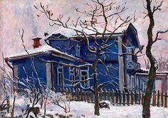 First Snow. Blue Dacha Pyotr Konchalovsky - 1938