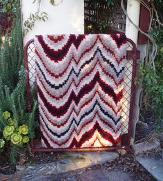 latch-hooking rugs by Lily Sugars, via Flickr