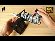 Lego Technic Rotary Machine Gun (MOC - 4K) - YouTube