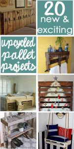 20 New and Exciting Upcycled Pallet Projects