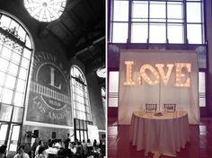 Wedding typography.