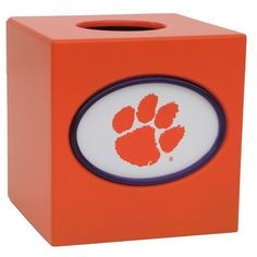 Clemson Tigers Tissue Box Cover, Multicolor
