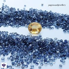 Any idea what we create out of these stones? . In this video, you see 3mm round iolite small stones and a beautiful bigger one is the citrine. In our story, you will find more information. . Dm for custom orders.