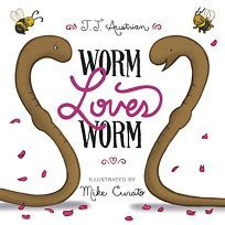 Children's Book Review: Worm Loves Worm by J.J. Austrian, illus. by Mike Curato. HarperCollins/Balzer + Bray, $17.99 (32p) ISBN 978-0-06-238633-5