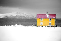 Yellow house Lofoten. Photo: Alan Bilyeald
